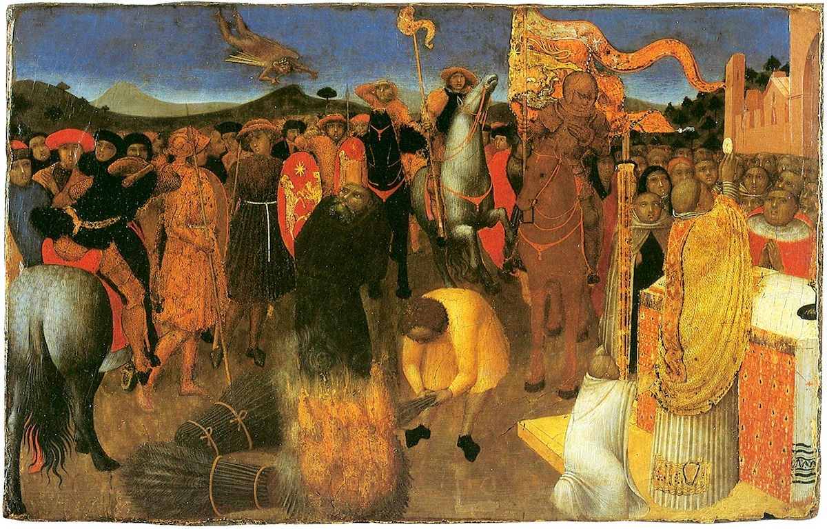 Burning of a Heretic by Sassetta
